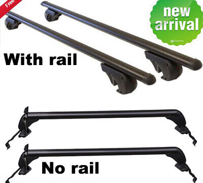 UniversalCar Top Roof Rack Locking Cross Bars Rail /No Rail Luggage Bike Rack