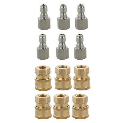 """12PCs Quick Connector Fittings 1/4"""" G Set for Garden Hoses & Pressure Washer"""