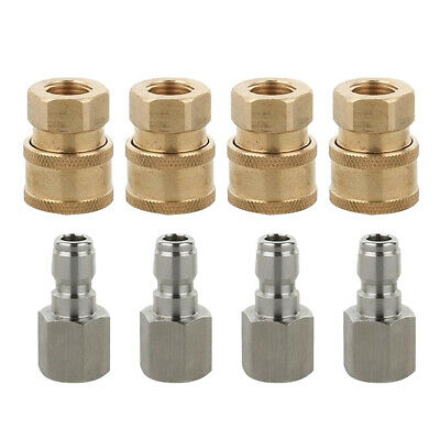 8x Quick Connector Fittings G1/4-inch Set for Garden Hoses & Pressure Washer