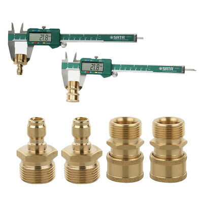 4pcs Pressure Washer Hose Connector Quick Connect Coupler Adapter M22x1.5mm