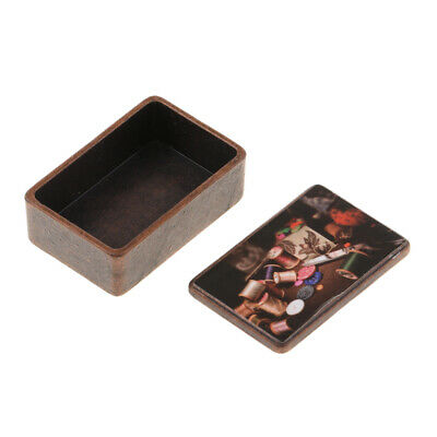 1:12 Dolls House Miniatures Sewing Box Sewing Room Decoration Accessory