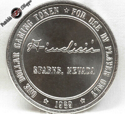 $1 Slot Token Coin Giudici's Casino 1989 Lm Mint Sparks Nevada Gaming Rare New