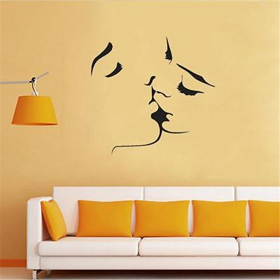 Lovers Kissing Sticker Art Design Vivid Decals Wall Stickers Home Decoration D