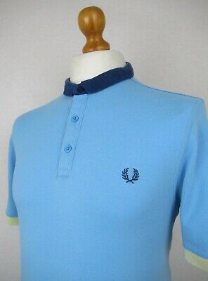 ec17b0c0 Fred Perry | Block Tipping Cut Away Collar Pique Polo Shirt Large/42 (Soft