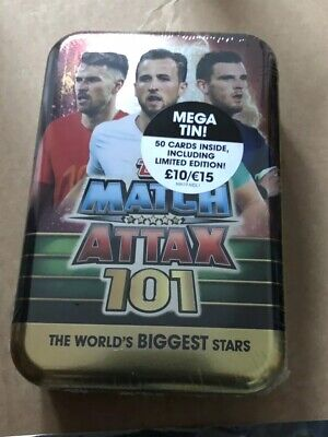 Mega Tin 2020 Card List.Match Attax 2018 19 18 19 Mega Tin Elite Attackers 15 Card