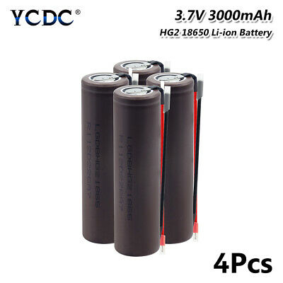 4Pcs Original 3.7V 3000mAh HG2 18650 High Drain 20A Battery For Vape E-cig 5D95