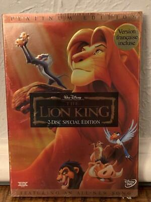 The Lion King Platinum Edition DVD 2-Disc Set Matthew Broderick Jeremy Irons New