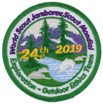 24th World Jamboree 2019 Outdoor Ethics Team IST Staff Patch Badge USA WSJ BSA