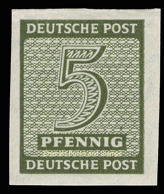EBS Germany 1945 Soviet Zone - West Saxony - Numerals 5Pf imperf 116Y MNH**