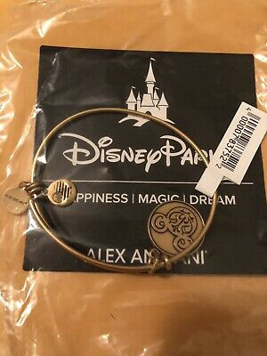 New Disney Alex & And Ani Gold Bracelet Mickey Mouse Icon Filagree