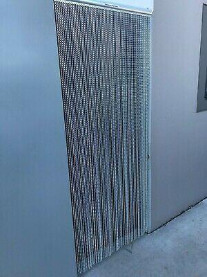 Aluminium Chain Insect Door - Air flow style. 900mm wide x 2130mm long