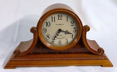 Howard Miller Aged Dial Carved Yorkshire Oak Dual Chime Clock Anthony 635-113
