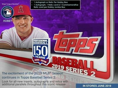 2019 Topps Series 2 Baseball Factory Sealed HTA Jumbo Box LIVE