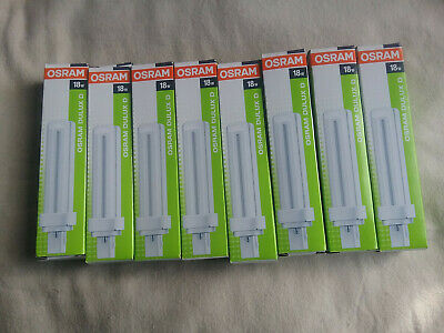 Osram Dulux D 18W/840 Lumilux Cool White G24d-2 Two Pin Light Bulbs (8 PIECES)