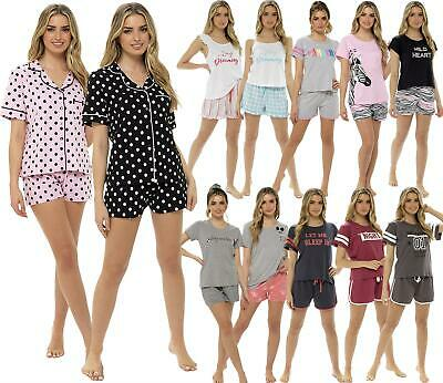 Ladies Womens Summer Sleep Short Pajamas Loungewear Nightwear PJs Shorts