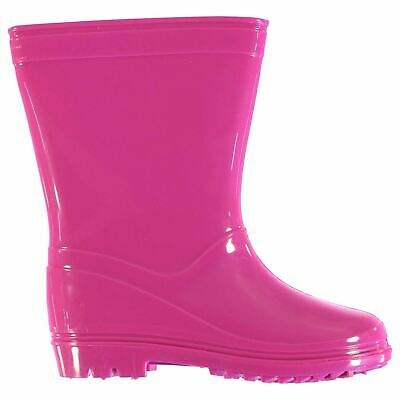 Crafted Wellington Boots Infants Girls Pink Wellies Gum Boots Waterproof