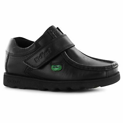 Kickers Fragma Strap Shoes Childs Girls Black Kids Footwwear