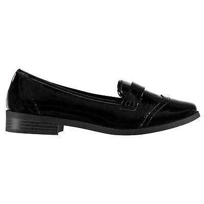 Miso Loafers Slip On Shoes Juniors Girls Black Kids Footwwear
