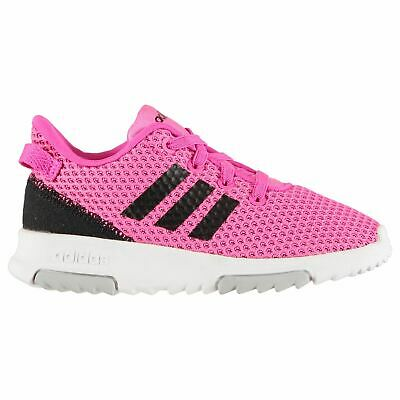 adidas Racer TR Trainers Infants Girls Pink/Black/White Shoes Sneakers Footwear