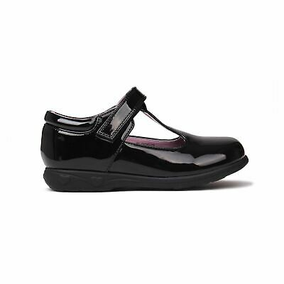 Miss Fiori Tara T Bar Shoes Juniors Girls Black/Patent Kids Footwwear
