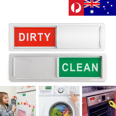 Magnet Clean Dirty Dishwasher Indicator Sign with Non-Scratch Magnetic Backing
