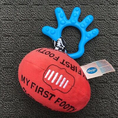 """PLAYGRO """"My First Footy"""" Cute Sports Ball Football Clip-on Babies Mini Soft Toy"""