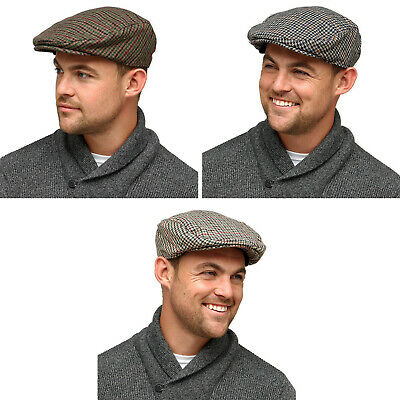 HeatGuard Men's Lined Checked Flat Cap