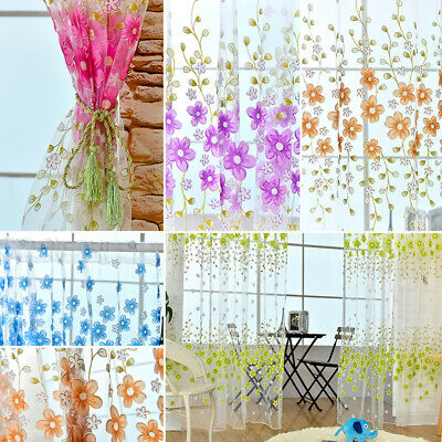 UK Glitter String Curtain Panels~ Fly Screen & Room Divider ~ Voile Net Curtains