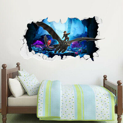How To Train Your Dragon Wall Sticker - Hiccup & Toothless Broken Wall Decal
