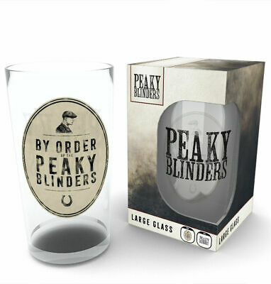 Peaky Blinders By Order Of TV BBC Cillian Murphy Drinkware Large Pint Glass