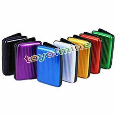 Waterproof Business ID Credit Card Wallet Holder Plastic Pocket Case Box