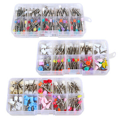 100pcs Dental Latch Type Prophy Teeth Polishing Brushes Cups Rubber Mixed UK