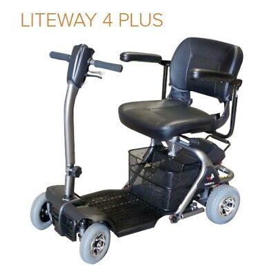 Liteway 4 Plus Mobility Scooter dismantles fits in car boot Swivel chair Battery
