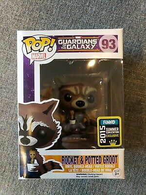 Funko Pop! Marvel SDCC Rocket and Potted Groot  Guardians of the Galaxy #93
