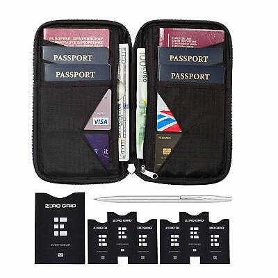 Travel Wallet  Family Passport Holder w/RFID Blocking- Document Organizer Case
