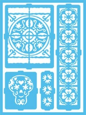 Deco Art AMERICANA GLOSS ENAMELS Re-usable STENCIL Latin Inspiration Patio DCPS0