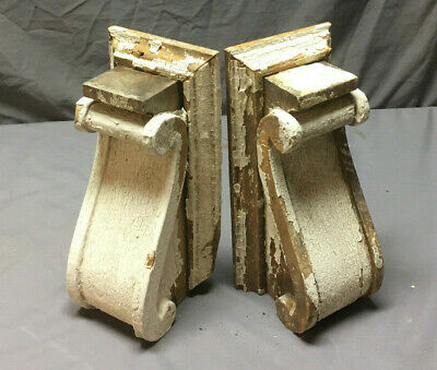 Pair Antique Corbels Shelf Brackets Shabby Vintage Chic 260-19L