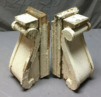 Pair Antique Corbels Shelf Brackets Shabby Vintage Chic 261-19L