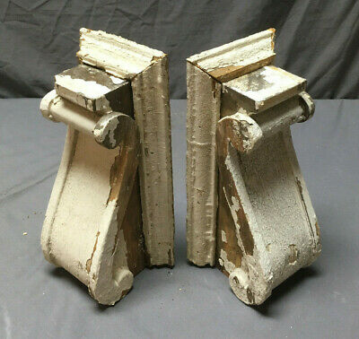 Pair Antique Corbels Shelf Brackets Shabby Vintage Chic 262-19L