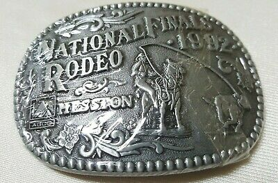 Vintage 1992 Hesston National Finals Rodeo Ltd Ed Collector Buckle NEW SEALED