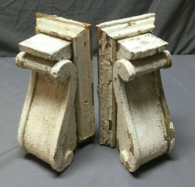Pair Antique Corbels Shelf Brackets Shabby Vintage Chic 264-19Lr