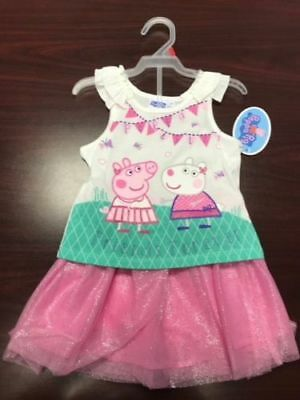 "NEW Girls Peppa Pig outfit ""Friends Forever"" T-shirt and skort *2T*3T*4T*"