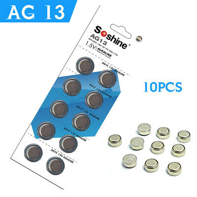 10pcs/pack 1.5V AG13 LR44 357 Alkaline Cell Button Battery GP76A For Remote Toys