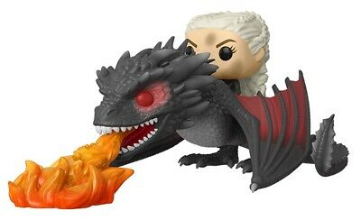 FUNKO POP! RIDES: GAME OF THRONES - DAENERYS & FIERY DROGON In Stock
