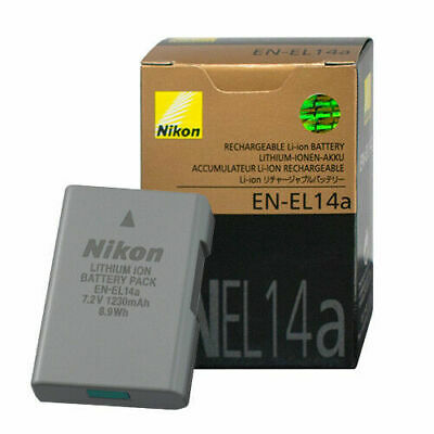 Genuine New Nikon EN EL-14A Battery for Nikon D3500 D3400 D5300 D5500 D5600