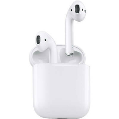 Apple Airpods MMEF2AM/A Wireless Bluetooth Earbuds With Charging Case - White