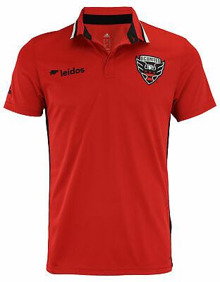 adidas MLS Men's D.C. United Climalite Authentic Team Polo, Red