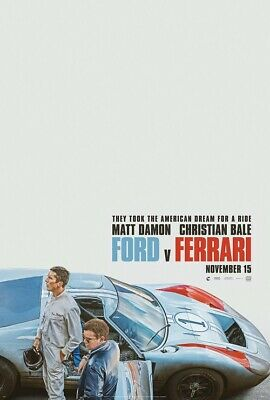 Ford v. Ferrari Poster Movie 1966 Battle Christian Bale Car Film Print 24x36""