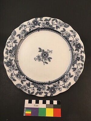 """Brownfield & Sons Aesthetic Movement BERNE BLUE Transferware 9.5"""" Plate  CLEAN"""