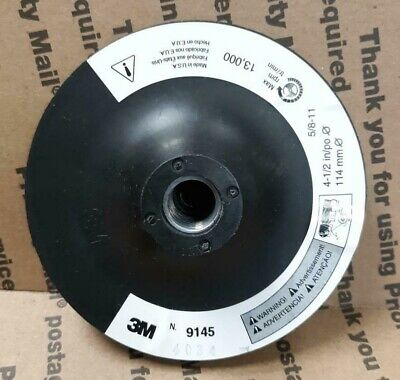 "3M 9145 Disc Pad Holder 4-1/2"" X 5/8-11 Female Thread (00-048011-14111-4) - NEW"